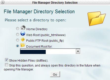 HostGator cPanel file manager